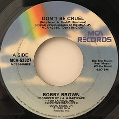 BOBBY BROWN:DON'T BE CRUEL(LABEL SIDE-A)