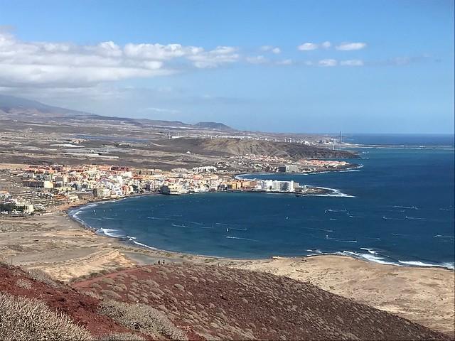 El Médano. Walk to Montaña Roja