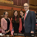 Rep. Arthur O'Neill and his wife, Dr. Ruby Corby O'Neill, Commission on Equity and Opportunity (CEO) commissioner, posed for a photo with Pomperaug High School freshmen Natalie LaBonia and her twin sister Isabella LaBonia on the floor of the House of Representatives during the opening day of the 2018 legislative session.