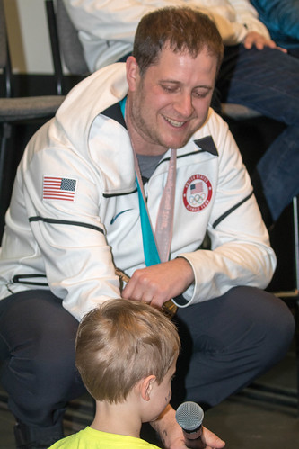 John Shuster and his son