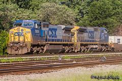 CSX 7658 | CSX 7680 | GE C40-8W | BNSF Thayer South Subdivision