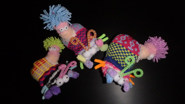 How to make plushie sea anemones on hermit crabs