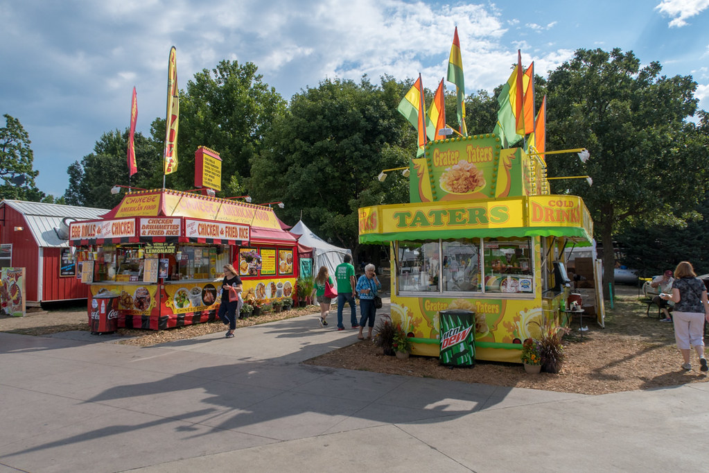 Food both stands at Iowa State Fair