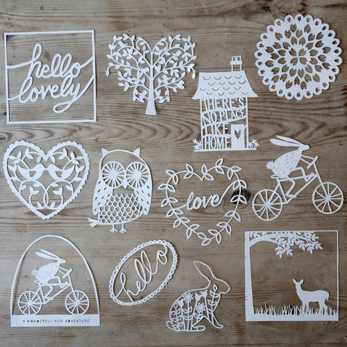 Papercutting Starter Kit Templates by Lucy Dorothy