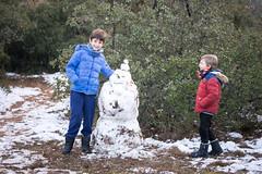 Nieve en Palencia capital