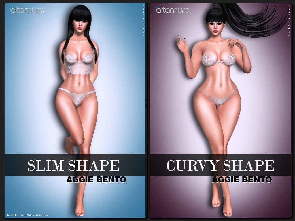 """""""Slim Shape"""" & """"Curvy Shape"""" Aggie Bento @ eBento - TeleportHub.com Live!"""