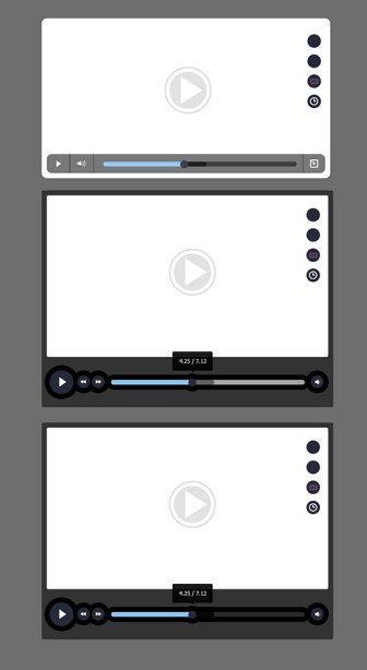 Video Player – PSD source for Photoshop