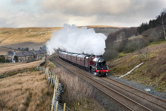 Galatea at Garsdale on The Winter Cumbrian Mountain Express, 17/02/18