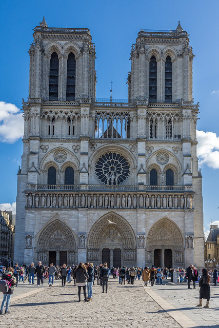 Paris 26 Notre Dame de Paris west façade