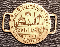 1917 Baghdad Trench Art Dogtag obverse