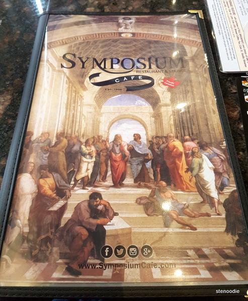 Symposium Cafe Restaurant & Lounge menu cover