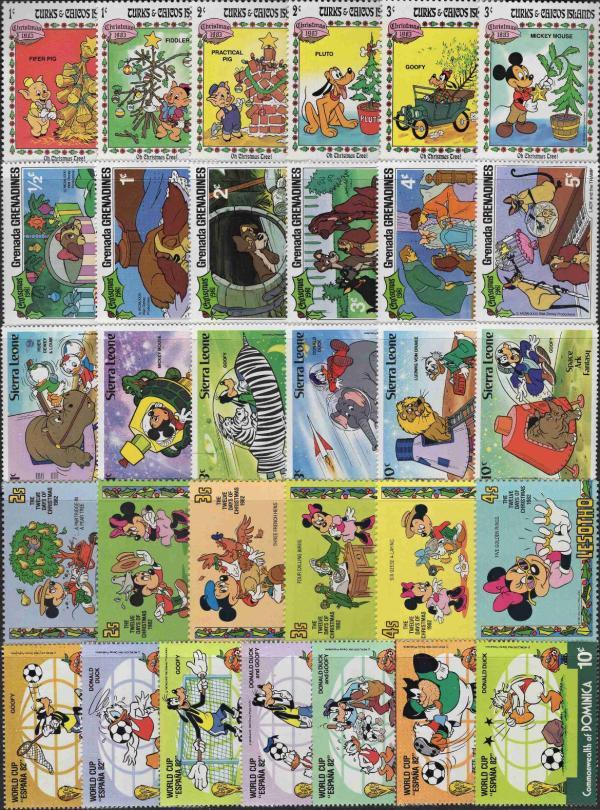 Známky Walt Disney - 31 rôznych MNH sada 6