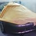 Porsche en cabine pour la mise en peinture de la porte côté droit. Carrosserie inter-union - 53 route de suisse, 1295 Mies Tél.022 755 45 30 - Fax. 022 779 03 28 Site internet: www.interunion.ch