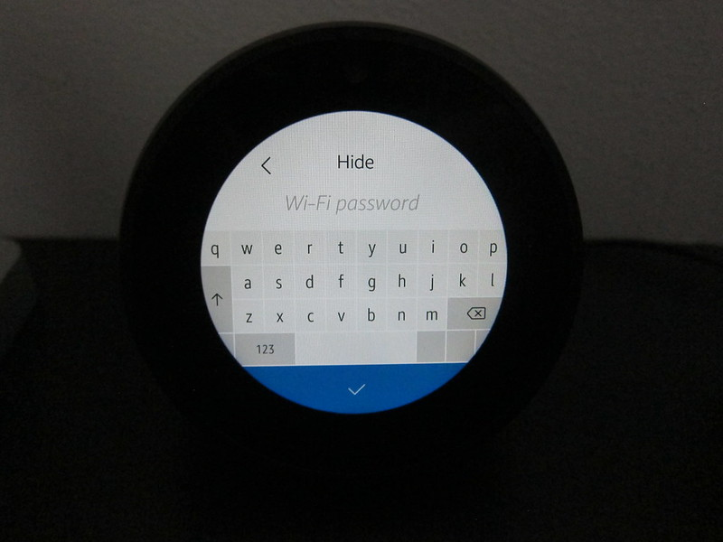 Amazon Echo Spot - Keyboard