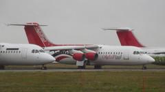 British Aerospace BAe.146-RJ100 c/n E3232 Air Libya registration 5A-FLA