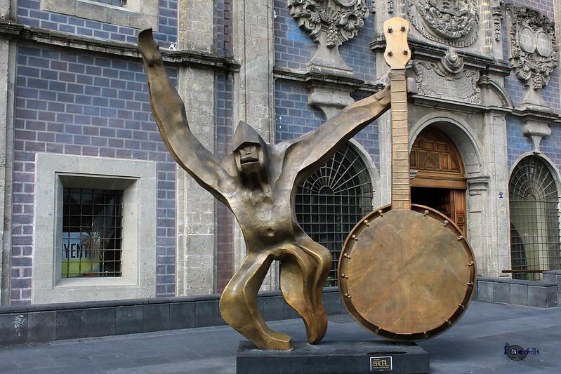 Chango con banjo