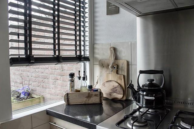 Keuken strak landelijk interieur