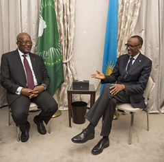 President Kagame meets with President Roch Marc Kaboré of Burkina Faso on the sidelines of the Munich Security Conference | Germany, 16 February 2018