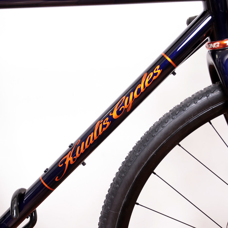 Kualis Cycles Steel CX Disc Frame & ENVE Carbon Fork Painted by Swamp Things.