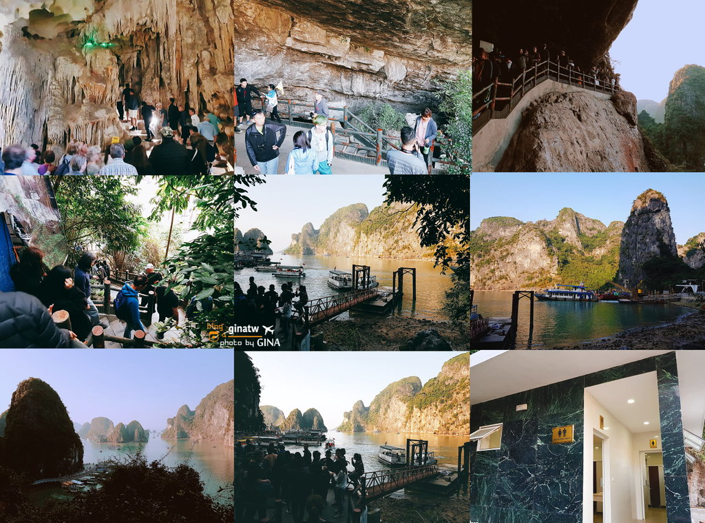 【下龍灣古典鳳凰號】北越河內必來|山水之間的悠閒+TiTop基托夫島小島+觀驚訝洞 震撼洞窟!新世界七大奇景之一、UNESCO世界遺產聯合國教科文組織 @GINA環球旅行生活|不會韓文也可以去韓國 🇹🇼
