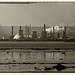 Grangemouth Oil Refinery on the river Forth, Scotland.