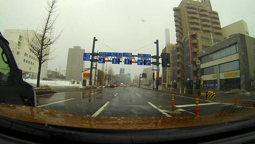 秋田市内 #日産リーフの車窓から