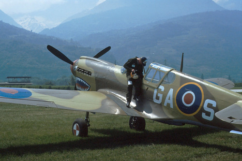 Curtiss P-40M Kittyhawk at the 1986 Sion Air Show