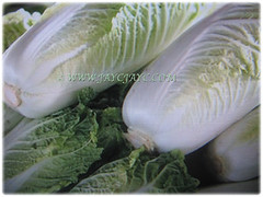 Brassica pekinensis (Chinese Cabbage, Napa Cabbage, Peking Cabbage, Celery Cabbage) for sale at the supermarket, 12 Jan 2018