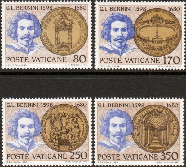 Známky Vatikán 1980 Bernini, nerazítkovaná séria NH