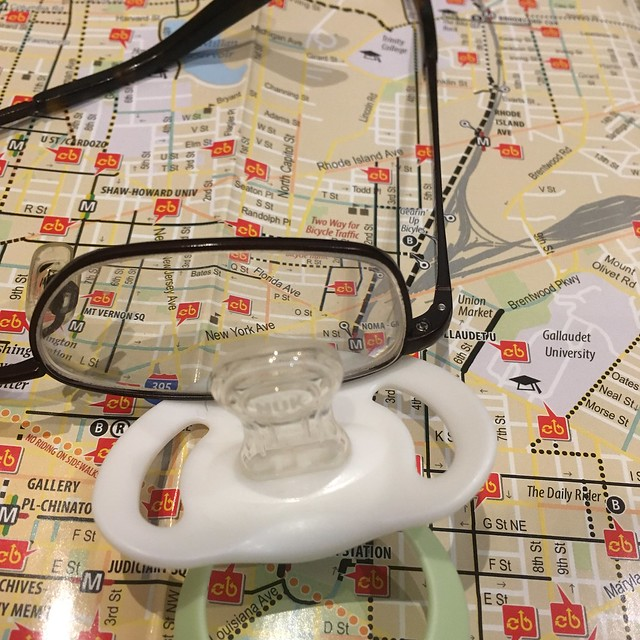 Eyeglass binky DC bike map