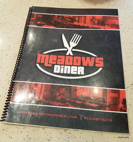 Meadows Diner menu cover
