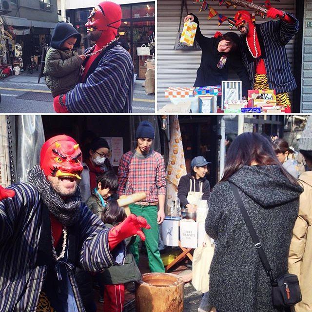 今年も無事に鬼を終了しました。 (写真いただきましたー) #松陰神社前 #節分 #鬼