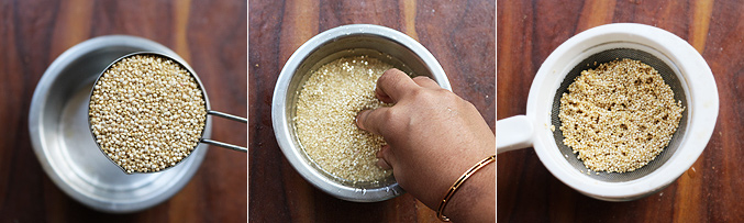 How to cook quinoa recipe - Step1
