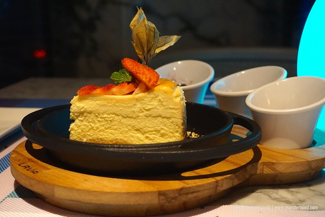 Calamansi Cheesecake at Hilton Kota Kinabalu Rooftop Poolside Bar & Grill