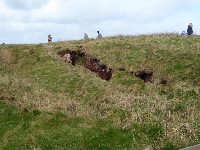 A fissure in the active cliffs above Bantham