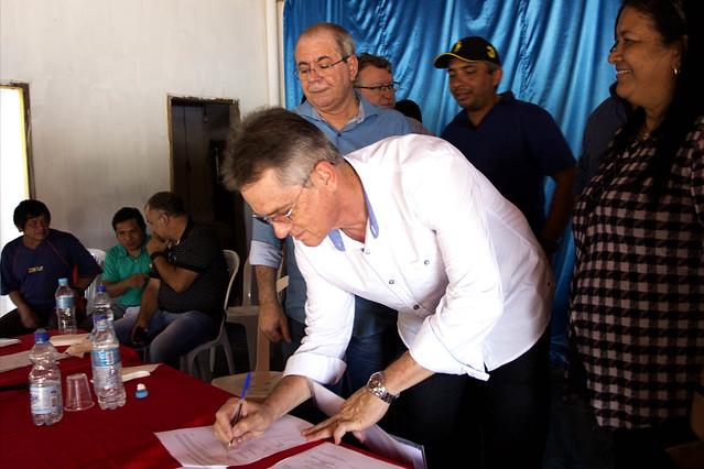 Solenidade de assinatura de OS para construção de Sistema de Abastecimento de Água-SAA em terras indígenas - 23.02.2018 Jenipapo dos Vieiras-MA.