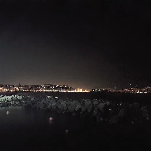 Napoli, lungomare di notte