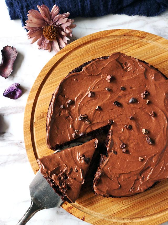全素無粉藜麥巧克力蛋糕 Vegan Flourless Quinoa Chocolate Cake (8)
