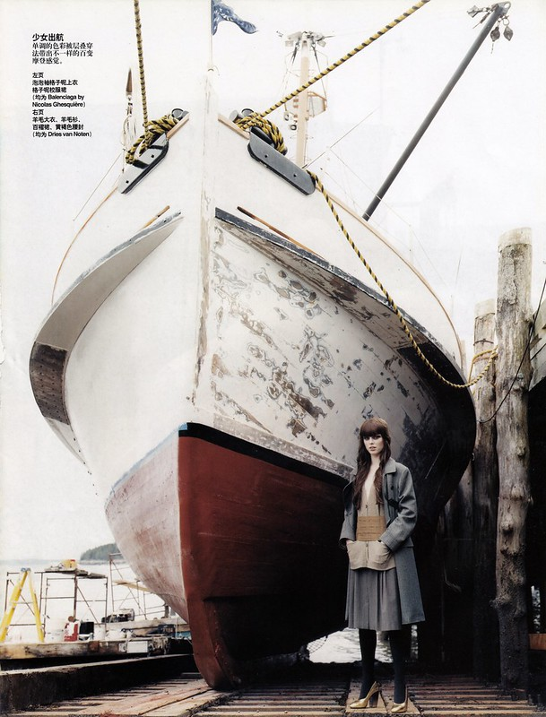 The Maine Event:Coco Rocha photographed by Arthur Elgort in Vogue China Oct 2006