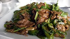 Stir Fried Lamb with Green Chili Peppers at La Bu La | Bellevue.com