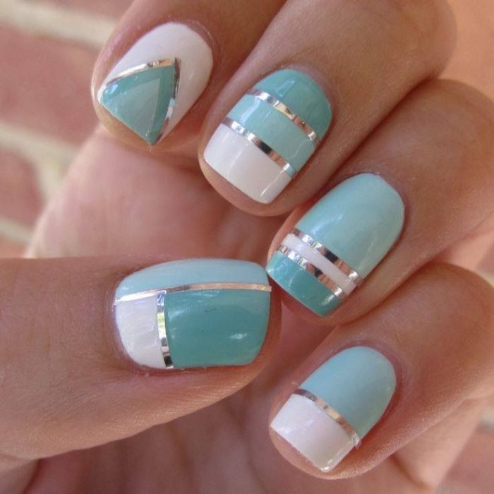Color Teal nail art Designs - 34 Best Examples Of Color Teal Nail Art Designs - Nails C