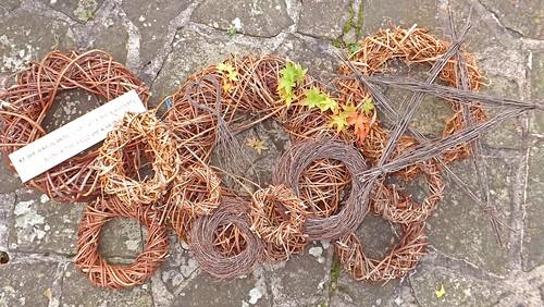 Wisteria, Grapevine, Birch Handmade Wreaths