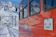 Train de neige, Gornergrat Bahn :copyright: Bernard Grua