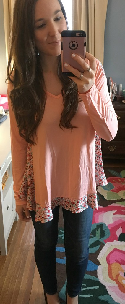 Matilda Jane pink flowy top