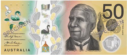 Australia $50 banknote front