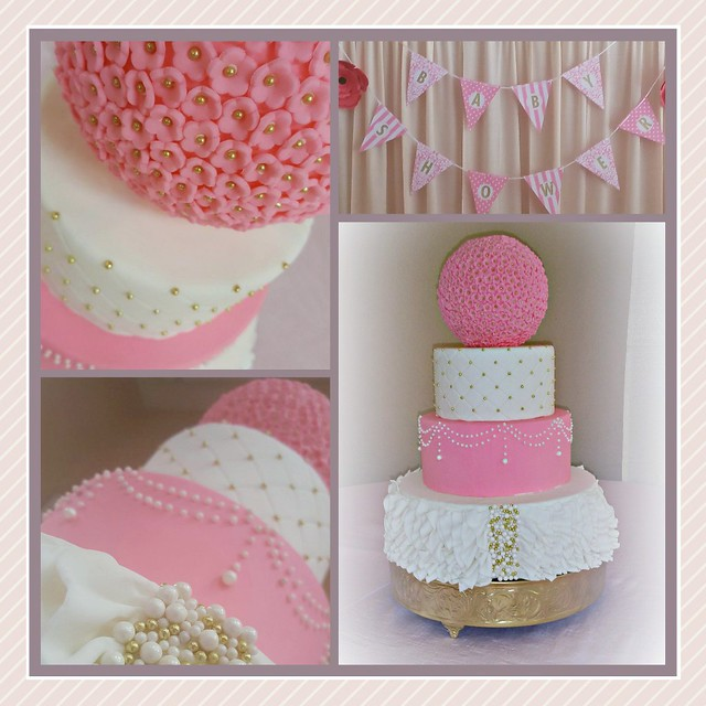 Elegant Baby Shower Cake by Isamar Diaz