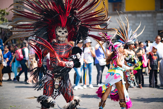 Aztec Dancers at Catedral Metropolitan
