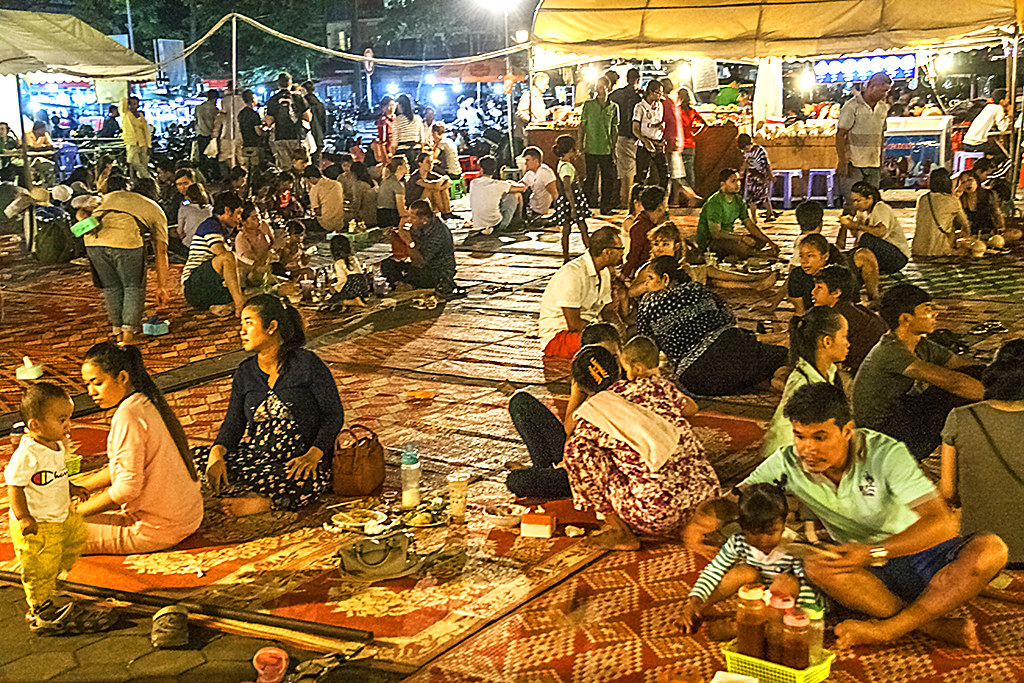 Food court at Night Market--Phnom Penh