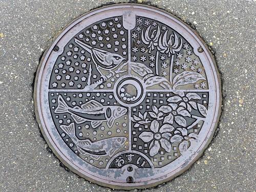 Uonuma Nigata, manhole cover (新潟県魚沼市のマンホール)