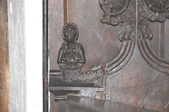 bench end: mermaid with a mirror (15th Century)